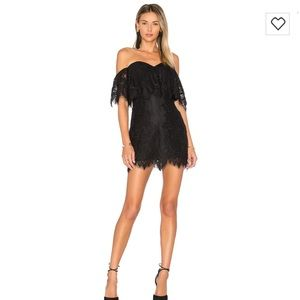 NWT Lovers + Friends Lush lace dress in black!